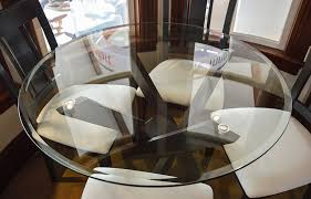 42 round glass table top furniture