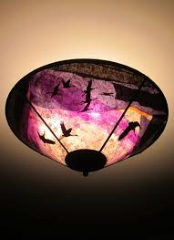 c345 cranes at daybreak purple ceiling shade