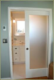 interior pocket door with translucent glass insert bathroom doors french