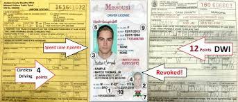 missouri driver s license points system