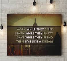 canvas wall art live like they dream wood frame 40 x  on business motivational wall art with canvas wall art decor for office business inspiration motivation