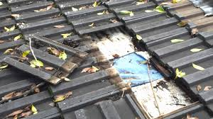 roof repairs sydney on leaking flat concrete tile roof below 20 degrees you
