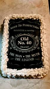 40th Birthday Cakes Cake Designed After Jack Daniels For The Man