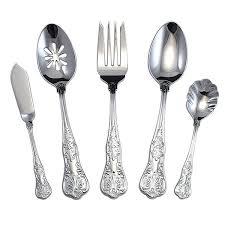 wallace stainless flatware queens serving set stainless steel flatware place setting wallace stainless flatware 18 10
