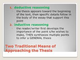 deductive and inductive writing two traditional means of  10 two traditional