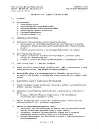 fastbid west vancouver barracks redevelopment city of page 14 section 012500 substitution procedures