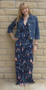 Maxi Dress With Denim Jacket Dress Blog Edin