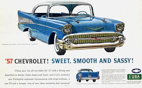 1957 Chevy Bel Air | Classic Car Ads | Pinterest | Bel air, Chevy ...