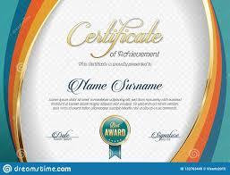 Certificate Of Landscape Design Certificate Of Achievement Landscape Template Stock