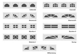 styles of garage door windows
