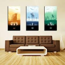 th1001 hd canvas print home decor art painting no frame star wars trilogy 3pcs
