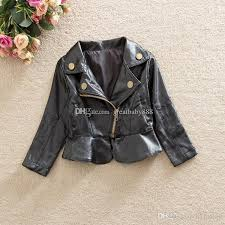 new autumn baby girls pu leather coat high quality outwear clothing baby jacket c1200 sports jackets for kids puffa jackets for children from hltrading