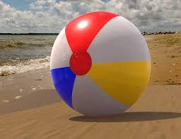 Creativity Beach Ball On Of July Icon For Design And Models Ideas