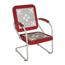 image of stylish vintage metal lawn chairs