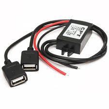 5v usb power car 12v 5v inverter dual usb female hard wire power charger for gps tablet phone