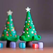 Christmas Tree In Chart Paper Clay Christmas Tree Christmas Tree Project For School
