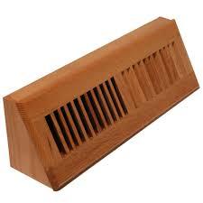 3 3 4 in x 15 in wood baseboard register natural oak