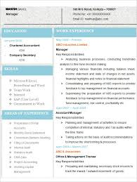 50 Elegant Sample Resume For Accountant Fresher Template Free