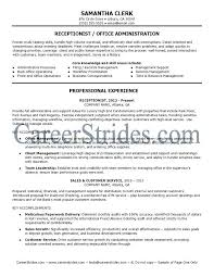 Resume For Receptionist Sample Best Receptionist Resume Examples