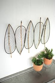 metal and bamboo bohemian leaf wall art woodwaves