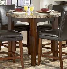 Round Marble Table Set Marble Table Set 3piece Wooden Block Legs Black Faux Marble Top