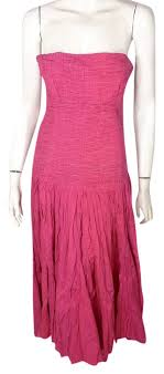 Diane Von Furstenberg Pink Bohemian Strapless Summer Mid Length Short Casual Dress Size 6 S 90 Off Retail