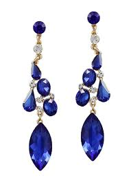 sapphire blue crystal chandelier earrings sapphire blue crystal chandelier earrings