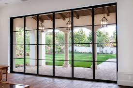 doors steel french patio doors single patio door modern sliding glass doors with black frame