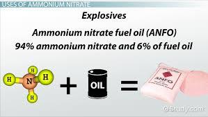 ammonium nitrate uses formula lesson transcript study com