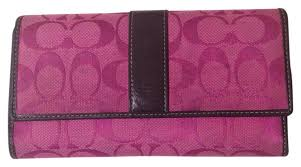 ... closeout coach large signature jacquard wallet 23060 8cd52