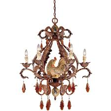 1 590 6 125 savoy house tracy porter clyde 6 light chandelier with relic rust w hand painted accents finish