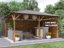 home garden outdoor utopia gazebo bar