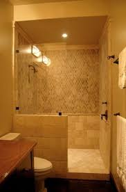 small bathroom remodel with doorless shower - Google Search