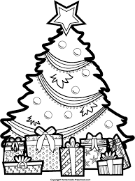 christmas tree with presents drawing. Contemporary Christmas Christmas Tree Drawing Black And Whitetop Free Inside With Presents H