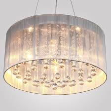gorgeous drum shade crystal chandelier pretty inspiring drumt lighting hanging large lamp