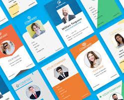 Identification Card Samples 2 Free Company Employee Identity Card Design Templates