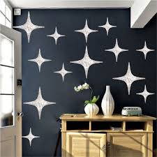 silver stars wall decals