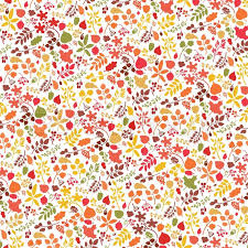 Fall Leaf Pattern Cool Vector Autumn Leaf And Berries Pattern BackgroundColored Silhouette
