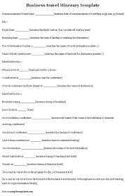 Vacation Travel Itinerary Template Word Business Relevant Capable ...