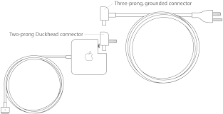 reduce cable strain on your magsafe power adapter apple support if you use the two prong duckhead connector for your magsafe adapter and you that the cable barely reaches switch to the longer three prong
