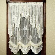 white lace valance kitchen valances stunning curtains target incredible orchard crochet full size