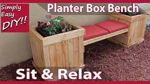 9 diy planter benches for your outdoor
