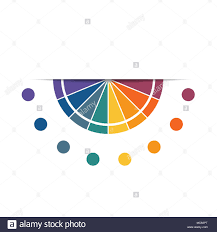 Semicircle Template For Infographics With 8 Parts Options