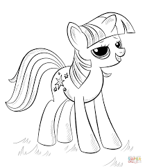 Rainbow Dash Coloring Pages With My Little Pony Coloring Pages Free