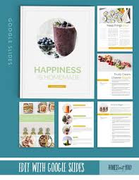 Homemade Cookbook Template Fresh Recipe Cookbook Template 8 5x11 Instant Digital Download Google Slides Drive Online Editable Printable Kit Health Wellness