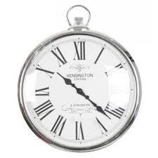 silver pocket watch clock kensignton
