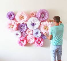 Paper Flower Wedding Decorations 10 Large Paper Flower No Giant Blooms Included Wedding Centerpiece