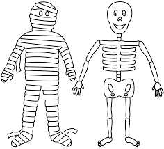 Small Picture Skeleton Coloring Pages For Kids Es Coloring Pages