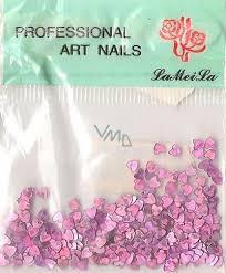 Professional Art Nails Ozdoby Na Nehty Srdíčka Tmavě Fialové 1 Balení