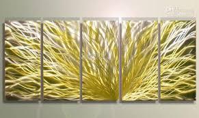 yellow metal wall art